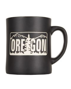 Commemorative Oregon License Plate Mug, Black