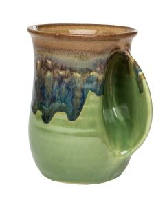 Clay In Motion Mountain Meadows Handwarmer Mug, Right Hand