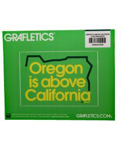 Oregon is above California Sticker