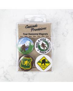 Four Awesome Sasquatch Magnets, Cascade Provisions