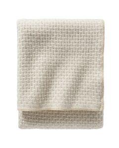 Pendleton Ivory / Cream Lattice Weave Wool Blanket, Twin
