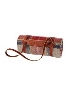 Pendleton Vintage Dress Stewart Motor Robe Wool Throw With Leather Carrier