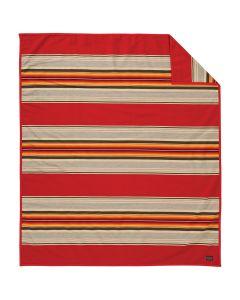 Pendleton Scarlet Serape Wool Blanket, Twin
