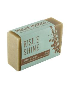 Rise & Shine Oatmeal Mint Natural Bar Soap By Molly Muriel 5oz