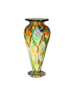 Small Traditional Vase Spotty Yellow