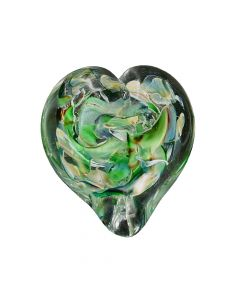 Paperweight Heart in Shattered Teal, The Glass Forge