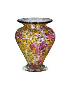 Large Squat Vase Peach The Glass Forge
