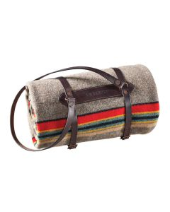 Pendleton Blanket Carrier in Dark Brown Leather