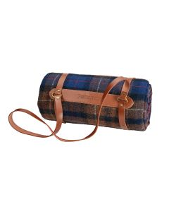 Pendleton Shelter Bay Plaid Motor Robe with Leather Carrier
