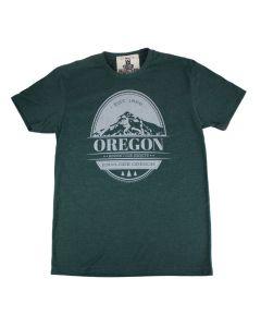 Vintage Oregon Stamp T-Shirt in Heather Green M