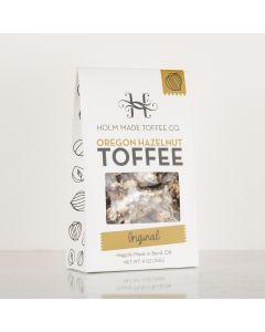 Oregon Hazelnut Toffee - Original, Holm Made Toffee Co 4oz