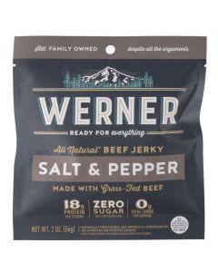 Werner Salt & Pepper Beef Jerky 2oz