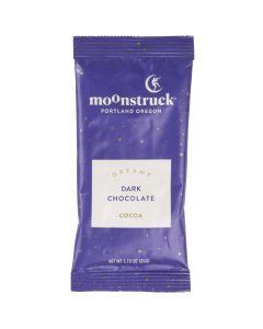 Dark Chocolate Hot Cocoa Single Serve Packet, Moonstruck Chocolate 1.15oz