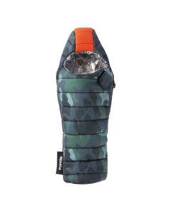 Puffin Sleeping Bag Insulated Bottle Koozie, Camo