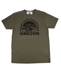 Nature Never Disappoints Military Green T-Shirt, L