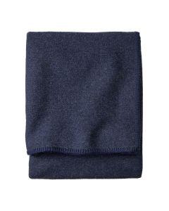 Pendleton Navy Eco-Wise Washable Wool Blanket King Folded