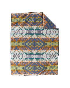 Pendleton Journey West Blue Wool Blanket, Twin