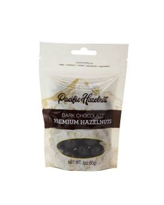 Dark Chocolate Premium Hazelnuts, Pacific Hazelnuts 3oz