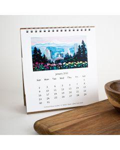 "2022 Portland Oregon Mini Calendar, Walter Share 6"" x 6"""