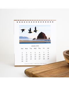 "2022 Oregon Coast Desk Calendar, Walter Share 6"" x 6"""