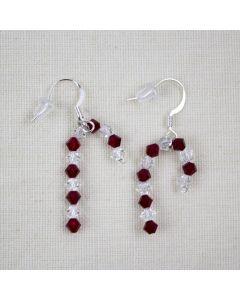 Candy Cane Swarovski® Crystal Earrings, Designs By Heidi
