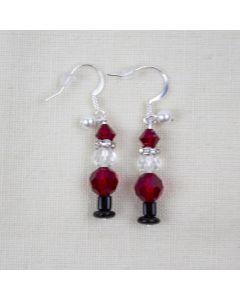 Swarovski® Crystal Santa Earrings, Designs By Heidi