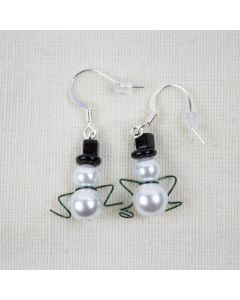 Swarovski® Crystal Snowman Earrings, Designs By Heidi