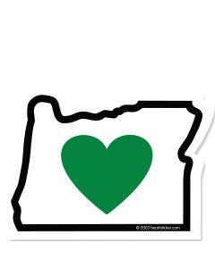 Heart In Oregon Sticker 2.75 in.