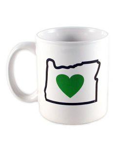 Heart in Oregon Mug