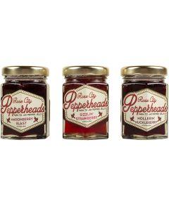 Spicy Pepper Berry Glaze Tri-Pack: Rose City Pepperheads 3 oz