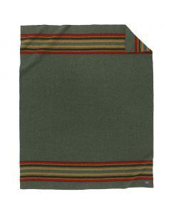Pendleton Wool Green Heather Yakima Camp Blanket, Queen