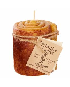 """Cinnamon Roll Beeswax Candle, Primitive Lights 4"""""""