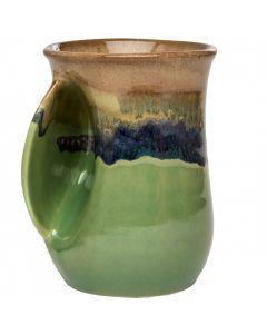 Clay In Motion Mountain Meadows Handwarmer Mug, Left Hand