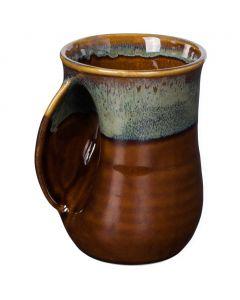 Clay in Motion Mocha Handwarmer Mug, Left Hand