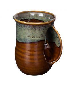 Clay in Motion Mocha Handwarmer Mug, Right Hand
