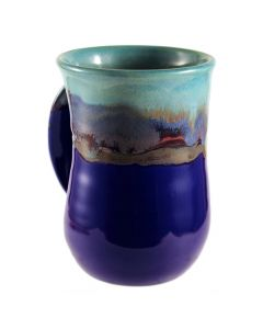 Clay in Motion Mystic Water Handwarmer Mug, Left Hand