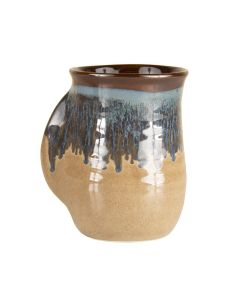 Clay In Motion Mudslide Handwarmer Mug, Right Hand