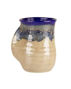 Clay In Motion Cobalt Handwarmer Mug, Right Hand