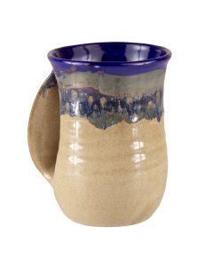 Clay In Motion Colbalt Handwarmer Mug, Left Hand