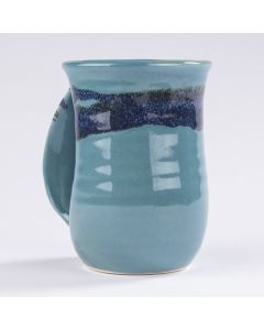 Clay In Motion Raging Rapid Handwarmer Mug, Left Hand