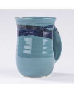 Clay In Motion Raging Rapid Handwarmer Mug, Right Hand